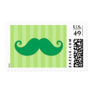 Bigote de moda verde del inconformista sellos