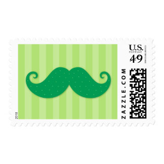 Bigote de moda verde del inconformista timbres postales