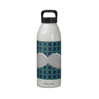 Bigote de plata Stache del bigote del manillar Botella De Agua Reutilizable