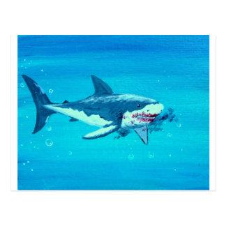 Bigote del almuerzo del tiburón postales