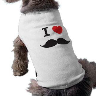 Bigote del amor playera sin mangas para perro