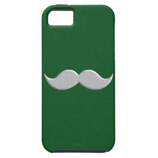 Bigote del bigote del manillar en fondo verde iPhone 5 Case-Mate protector