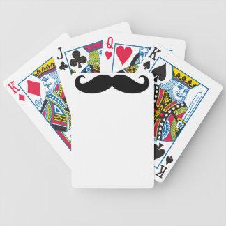 Bigote del bigote, diseño del bigote baraja cartas de poker