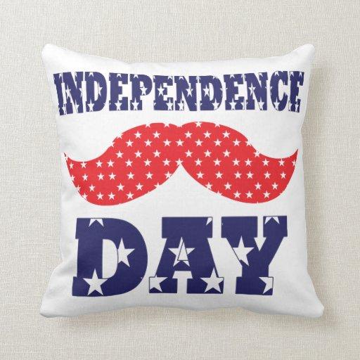 Bigote del Día de la Independencia Cojin