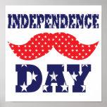 Bigote del Día de la Independencia Impresiones