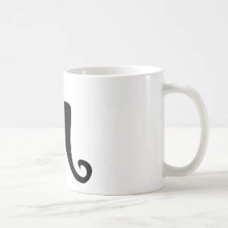Bigote del director de pista de circo taza de café