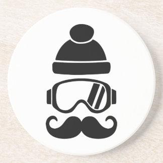 Bigote del gorra de la snowboard del esquí posavasos personalizados