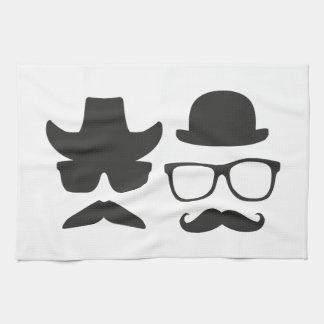 Bigote del Gringo contra el bigote muy inglés Toallas De Cocina