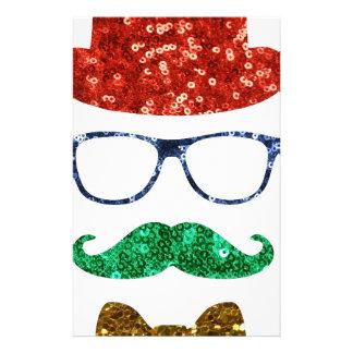 bigote del inconformista del navidad papelería