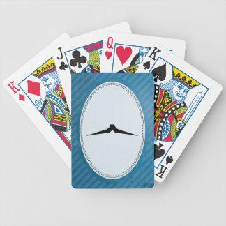 Bigote del lápiz barajas de cartas