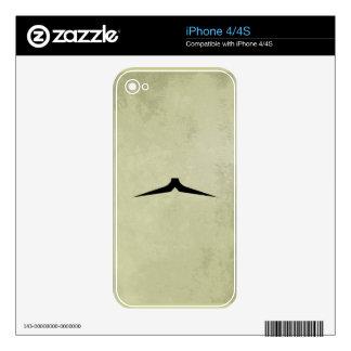 Bigote del lápiz iPhone 4S skin