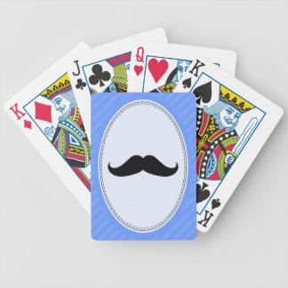 Bigote del manillar baraja de cartas