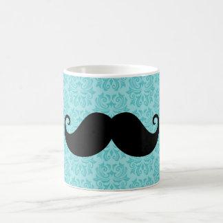 Bigote del manillar de la aguamarina en modelo taza de café