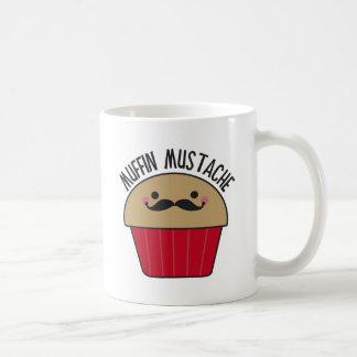 Bigote del mollete tazas de café