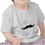 Bigote del monóculo camisetas