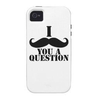 Bigote del negro I usted una pregunta Vibe iPhone 4 Fundas