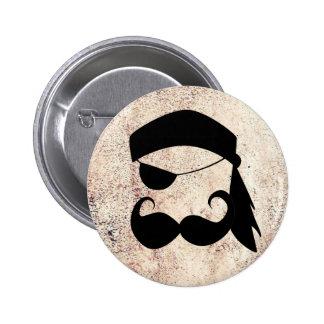 Bigote del pirata pin redondo 5 cm