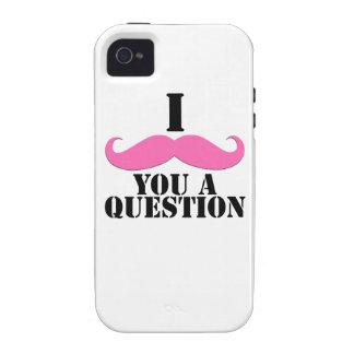 Bigote del rosa I usted una pregunta iPhone 4/4S Carcasa