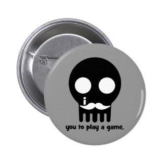 bigote del videojugador pins