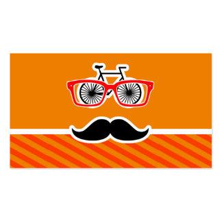 Bigote divertido con las rayas anaranjadas tarjetas de visita