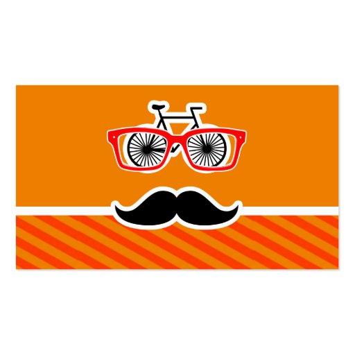 Bigote divertido con las rayas anaranjadas plantillas de tarjetas de visita
