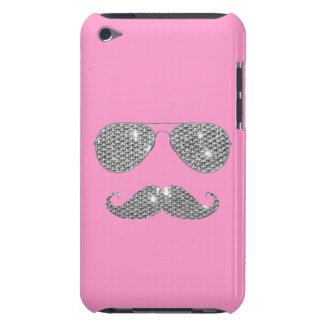 Bigote divertido del diamante con los vidrios iPod touch protectores