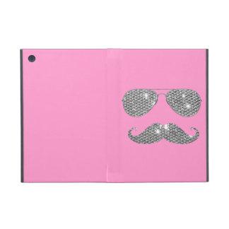 Bigote divertido del diamante con los vidrios iPad mini carcasas