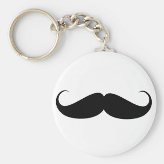 bigote divertido del símbolo del vintage del bigot llavero redondo tipo pin