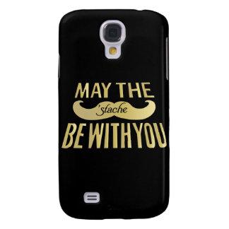 Bigote divertido - mayo el Stache esté con usted Funda Para Galaxy S4