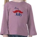 Bigote el 4 de julio camisetas