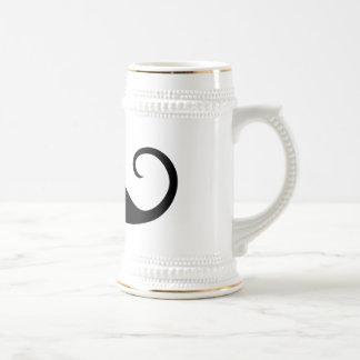 Bigote elegante tazas de café