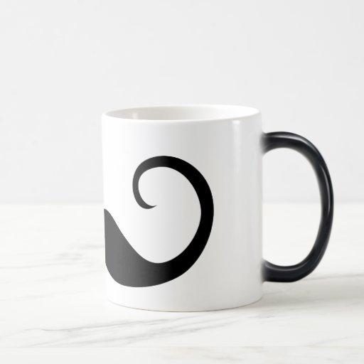 Bigote elegante taza mágica