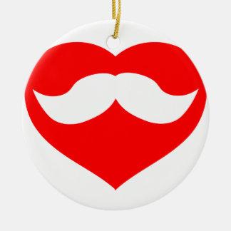 Bigote en corazón ornamento de navidad