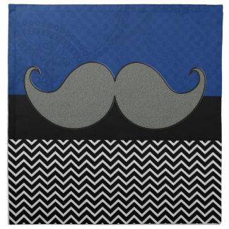 Bigote enrrollado retro servilletas imprimidas