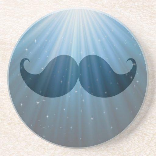 Bigote enrrollado retro Stache del bigote Posavasos Manualidades