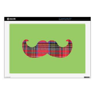 Bigote escocés (o bigote del scottache) skins para 43,2cm portátil