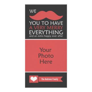 Bigote feliz todo tarjeta fotográfica