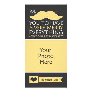 Bigote feliz todo tarjetas con fotos personalizadas