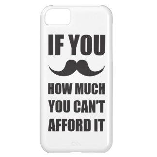 bigote funda para iPhone 5C