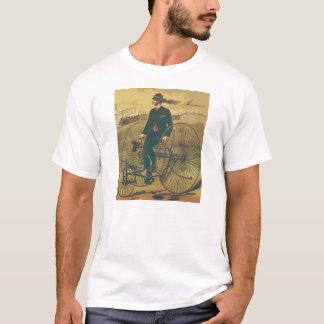 Bigote gigante del caballero del triciclo del playera