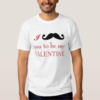 Bigote I usted a ser mi camiseta de la tarjeta del Polera
