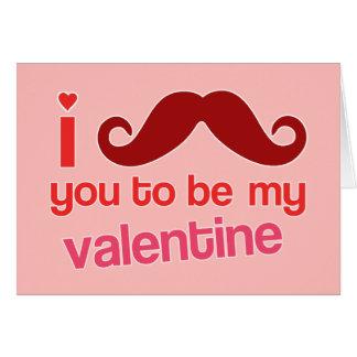 bigote i usted a ser mi tarjeta de la tarjeta del