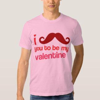 bigote i usted a ser mi tarjeta del día de San Remera