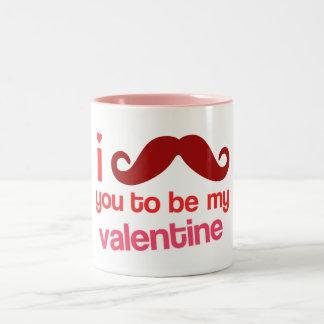 bigote i usted a ser mi taza de la tarjeta del día