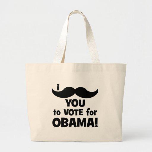 Bigote I usted a votar por Obama Bolsas