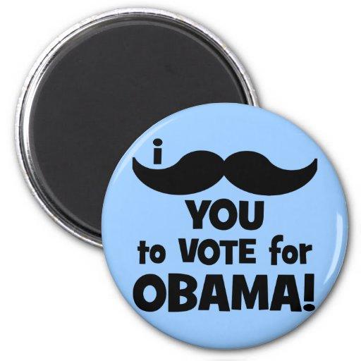 Bigote I usted a votar por Obama Iman De Nevera