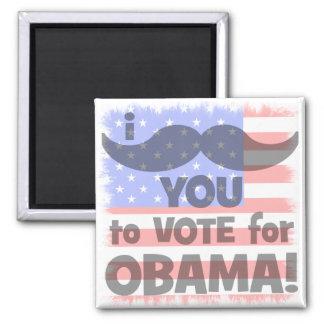 Bigote I usted a votar por Obama Imán Cuadrado