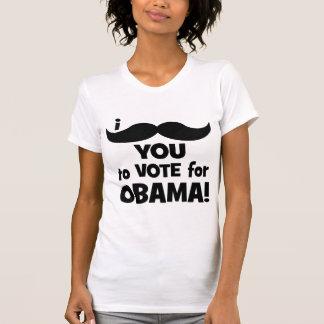 Bigote I usted a votar por Obama Playera