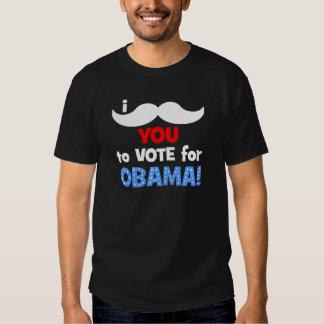 Bigote I usted a votar por Obama Playeras