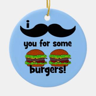 ¡Bigote I usted para algunas hamburguesas! Ornaments Para Arbol De Navidad